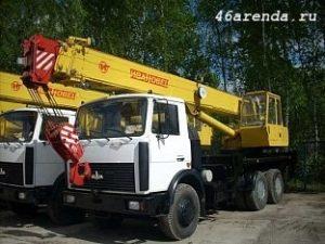 Аренда автокрана г п 20 тонн, стрела 21 метр в Курске